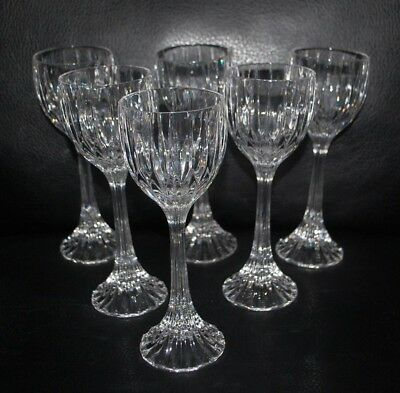 Mikasa Park Lane Crystal Wine Hock Glasses Set of Six
