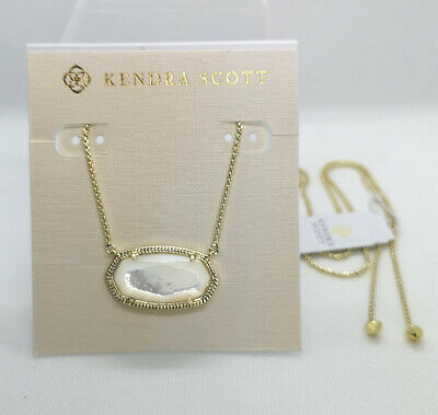 d598d3bfae722 NWT KENDRA SCOTT Delaney Pendant Necklace In Ivory Pearl / Gold