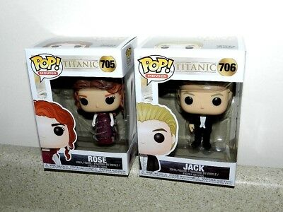 Funko Pop Titanic Complete Set Jack & Rose Movie Figures New Lot