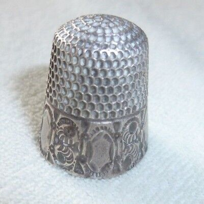 Sterling Silver Thimble Size 8 Goldsmith Stern Scroll & Ovals
