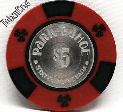 $5 Dollar Poker Gaming Chip Park Tahoe Hotel Casino Lake Tahoe Nevada 1978