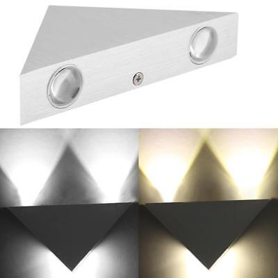 Modern 3W Triangle Wall Light Up&Down LED Sconce Lighting Lamp Indoor Outdoor