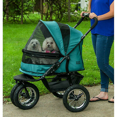 """Pet Gear No-Zip Double Pet Stroller-""""1"""" Color - *free Shipping In The U.s.*"""