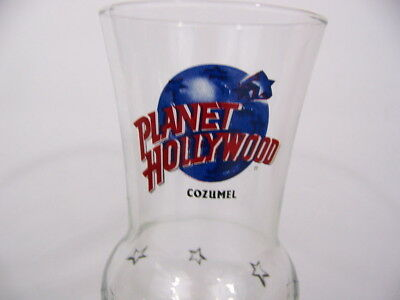 Planet Hollywood Cozumel Tall Drink Glass with Logo and Stars