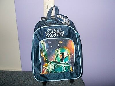 Star Wars Boba Fett school /luggage roller bag (very rare)