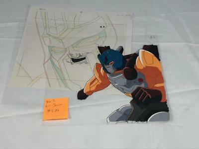 Transformers Japanese Beast Wars 2 Ii Lio Junior Animation Art Cell Lot 271