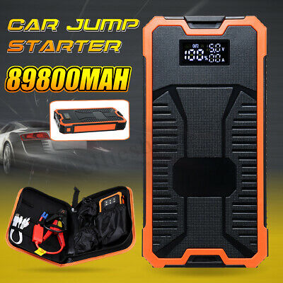 89800mAh LCD Car Jump Starter Emergency Battery Booster 6 LED Torch Dual USB