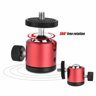 Mini Ball Head 360° Swivel for DSLR Camera Stand Tripod Adapter 1/4 Screw Mount