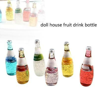 Multicolored Wine Bottles for Dollhouse Miniature 1:12 Scale