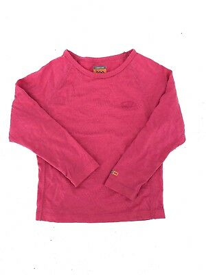 Icebreaker Girls Top Pink Merino Wool 200 3 4 years Childrens Bodyfit (F4)