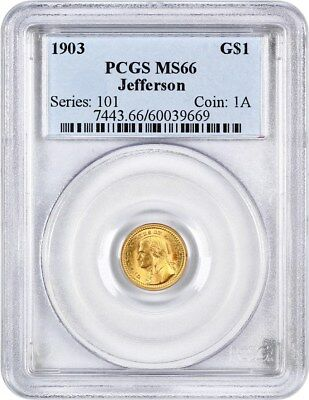 1903 Jefferson G$1 PCGS MS66 - Popular Gold Commem - Popular Gold Commem