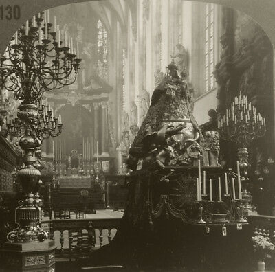 Keystone Stereoview inside St. Paul's Cathedral, BELGIUM from 1930's T400 Set #B