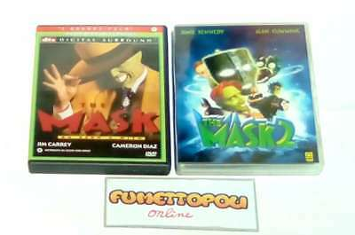 THE MASK  DVD 1^ ediz. Cecchi Gori (Fuori Catalogo)+THE MASK 2 DVD Medusa SC22