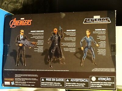Marvel Legends AGENTS OF SHIELD 3 PACK -  MIP ! Toys R Us Exclusive Fury Coulson