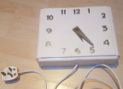 VINTAGE WOOD & Metal SECTRIC ELECTRIC MANTLE CLOCK Wall Art Deco Hand Made
