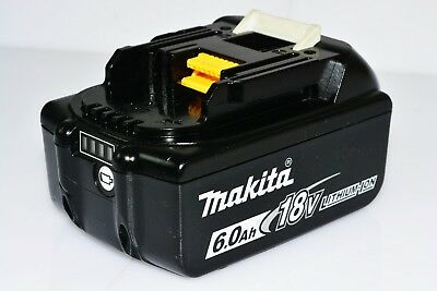 MAKITA GENUINE 18V 6Ah BATTERY BL1860B LITHIUM-ION **EXCELLENT CONDITION