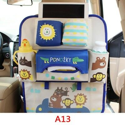 Cartoon Car Seat Back Organizer Storage Bags Hanging Bags Pocket for Kids Best