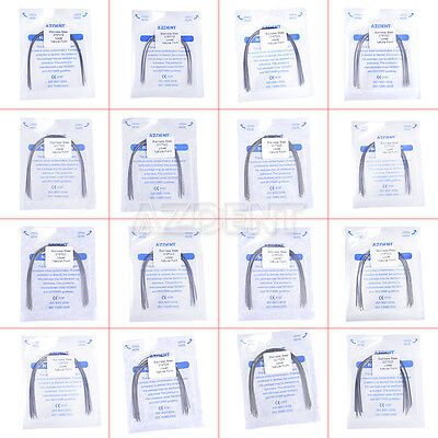 Dental Orthodontic Stainless Steel Rectangular Arch Wires Natural Form 16 Sizes