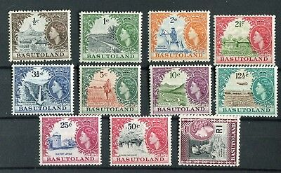 Basutoland QEII 1961-63 set of 11 SG69/79 MNH