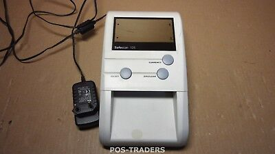 SAFESCAN 125 Counterfeit Money Detector For Euros and British Pounds INCL PSU