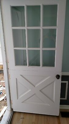 Vintage Dutch Door Barn Style Bottom 9 Panes Glass 36 X 79 Can Ship!!!!!!!