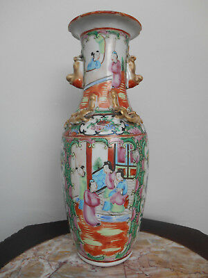 Antique Chinese Vase - Famille Rose Canton Medallion // 19th Century