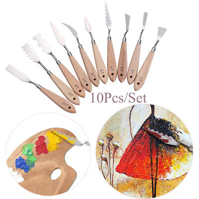 Stainless steel Oil Acrylic Mixing Painting Tools Art Palette Spatula Knives