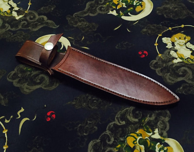 knife blade sheath cover scabbard case bag cow leather customize brown Z996
