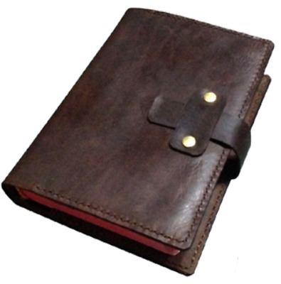 book jacket cover slipcase genuine cow leather customize handmade brown Z916