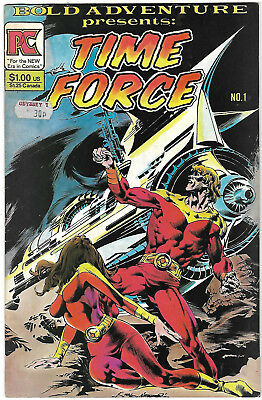 """Dated 1983. Bold Adventure - """"TIME FORCE"""" comic Vol.1 #1. Pacific Comics. VG."""