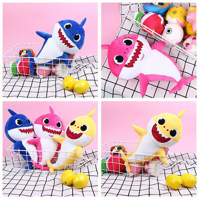 PinkFong Animal Cartoon Stuffed Toy Plush Doll Soft Toys Fox Sharks Kids Baby