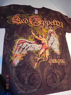 LED ZEPPELIN Swan Song tee T-shirt size Small dbl sided unworn