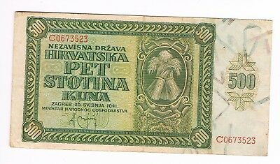 CROATIA  500 Kuna 1941 German Occupation  (6)