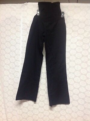 Women's Maternity Pants Slacks  Motherhood Size L Black