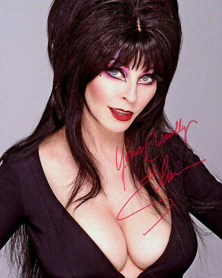 REPRINT - ELVIRA 3 ~ Autographed signed photo 8x10