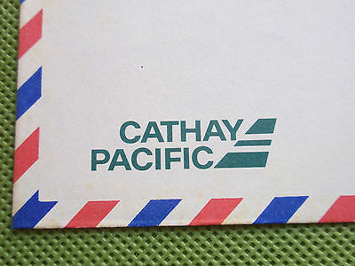 RARE Cathay Pacific Envelope Old Logo Airmail