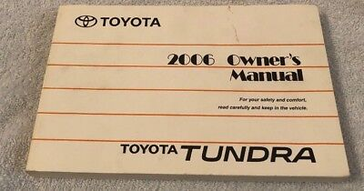 2006 Toyota Tundra Owners Manual User Guide Reference Operator Book Fuses Fluids