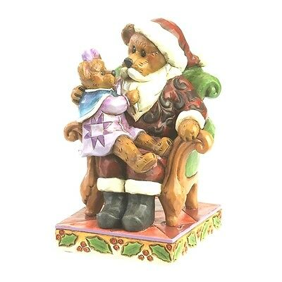 """JIM SHORE BOYDS BEARS """"SANTA with HOLLY..CHRISTMAS WISHES"""" 4035827 FREE SHIPPING"""