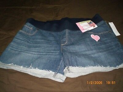 Maternity Skinny Jeans Shorts Blue Size Xxl/2Xg 20 New With Tags