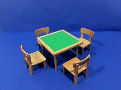 PLAYMOBIL CARD TABLE , 4 CHAIRS ~ Sets 3787, 6280  GOLDEN NUGGET WESTERN SALOON