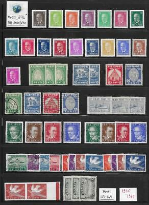 WC1_874* ESTONIA. Nice & clean lot of 1936-1940 stamps. MH-MNH/Used