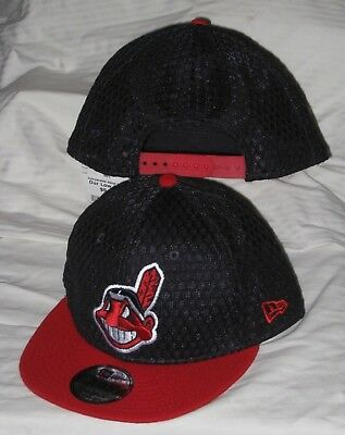 Cleveland Indians New Era 9Fifty Quickturn Chief Wahoo Logo Snapback Hat cap  Nwt a6997259a8dc