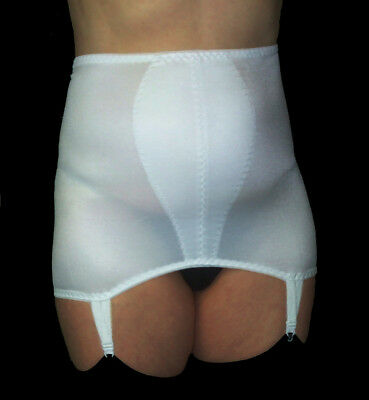 """Roll On Satin Style Slimming Control Suspender Girdle Shapewear Size 35""""- 36"""""""