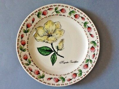 Tabletops Unlimited Botanical Gardens Salad Plate (Magnolia Grandiflora)