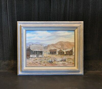 Vintage Painting - Abandoned Old West Ghost Town - Rawhide - Gordon G. Pond