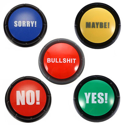 Sound Talking Button No Yes Maybe Sorry Novelty Gag Gifts New Home Office Gift