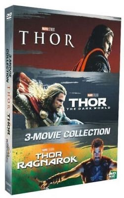 THOR 3-Movie Collection [DVD Format Box Set] 123 Complete Trilogy Ragnarok NEW