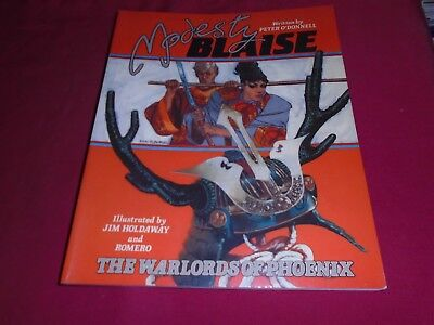 MODESTY BLAISE - THE WARLORDS OF PHOENIX Titan Books GN 1987