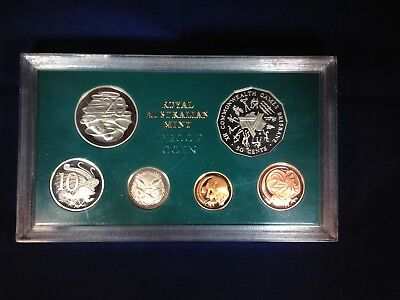 1982 Commonwealth Games Proof Coin Set + Certificate