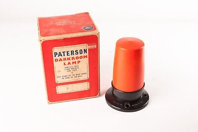 Paterson Darkroom Lamp.  Vintage Safelight with Orange Cover.  Good Condition.